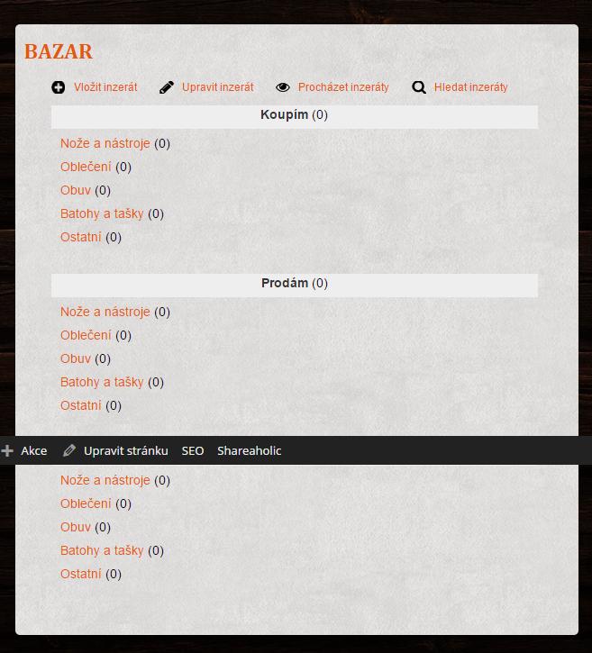Bazar   BushcraftPortal.cz